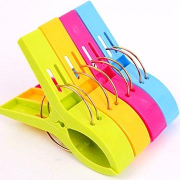 Yigo 4 Stück große Wäscheklammern Kunststoff Clips Quilt Clips für tägliche Wäsche - 1