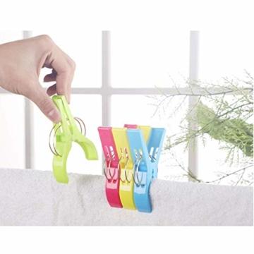 YISAMA 12 Stück Große Wäscheklammern, Handtuchklemmen Strandtuchklammern Handtücher Towel Clips für Tägliche Wäsche, Großes Strandtuch, Schwere Badetuch - 3