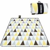 Yorbay Picknickdecke 200 x 200 cm XXL Fleece wasserdicht Decke mit Tragegriff Mehrweg (Dreieck) - 1