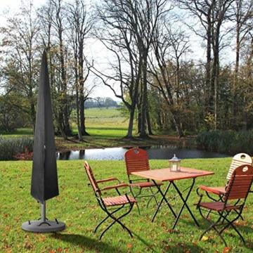 zizwe Sonnenschirm Schutzhülle Abdeckung, Wetterfeste, UV-Anti, Winddicht und Schneesicher, Outdoor für Ampelschirm schwarz 190 * 26/56 cm - 8
