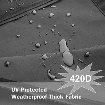 zizwe Sonnenschirm Schutzhülle mit Stab, Sonnenschirm Abdeckung, Wetterfeste, UV-Anti, Winddicht und Schneesicher, Outdoor für Ampelschirm schwarz (265 * 40/70/ 50 cm) - 7
