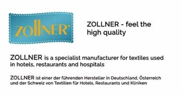 ZOLLNER 2er Set Badetuch Saunatuch, 70x180 cm, grau weiß gestreift - 3