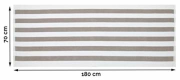 ZOLLNER 2er Set Badetuch Saunatuch, 70x180 cm, grau weiß gestreift - 5