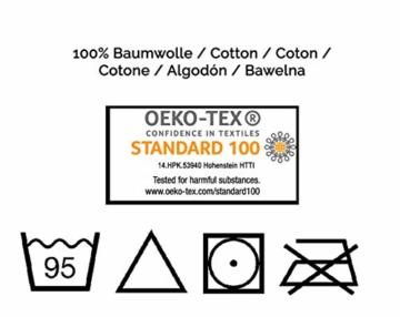 ZOLLNER 4er Set Handtücher, 50x100 cm, 100% Baumwolle, 650g/qm, weiß - 3