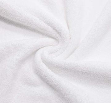 ZOLLNER 4er Set Handtücher, 50x100 cm, 100% Baumwolle, 650g/qm, weiß - 5