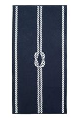 ZOLLNER XXL Strandtuch Baumwolle, 100x200 cm, Marine-weiß (weitere verfügbar) - 1