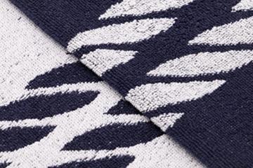 ZOLLNER XXL Strandtuch Baumwolle, 100x200 cm, Marine-weiß (weitere verfügbar) - 2