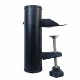 Ztoma Sonnenschirmhalter, tragbarer Schirmständer aus Metall, für quadratisches Balkongeländer, 19-38 mm - 1