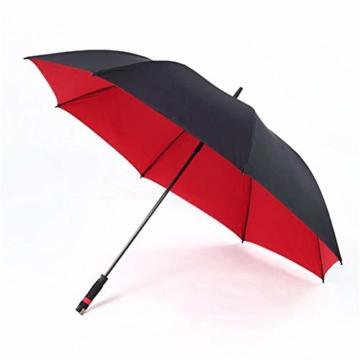 150 cm Golfschirm Männer Starke Winddicht Halbautomatische Langen Regenschirm Große Mann und Frauen Geschäfts Regenschirme Mens,Red - 2
