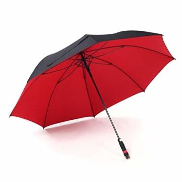 150 cm Golfschirm Männer Starke Winddicht Halbautomatische Langen Regenschirm Große Mann und Frauen Geschäfts Regenschirme Mens,Red - 3