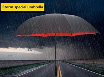150 cm Golfschirm Männer Starke Winddicht Halbautomatische Langen Regenschirm Große Mann und Frauen Geschäfts Regenschirme Mens,Red - 4