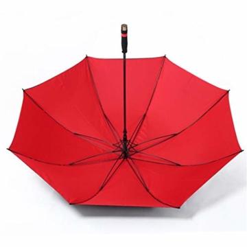 150 cm Golfschirm Männer Starke Winddicht Halbautomatische Langen Regenschirm Große Mann und Frauen Geschäfts Regenschirme Mens,Red - 6
