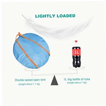 200 * 140 * 105 im Freien Wasserdichten Wandern Camping-Zelt Anti-UV Tragbarer Tourist-Zelt Ultra Faltzelt Pop Up Automatische Open Sun ShadeTent für 3-4 Personen - 3