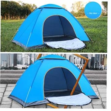 200 * 140 * 105 im Freien Wasserdichten Wandern Camping-Zelt Anti-UV Tragbarer Tourist-Zelt Ultra Faltzelt Pop Up Automatische Open Sun ShadeTent für 3-4 Personen - 5