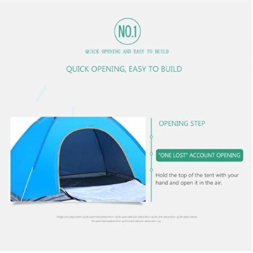 200 * 140 * 105 im Freien Wasserdichten Wandern Camping-Zelt Anti-UV Tragbarer Tourist-Zelt Ultra Faltzelt Pop Up Automatische Open Sun ShadeTent für 3-4 Personen - 6