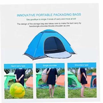 200 * 140 * 105 im Freien Wasserdichten Wandern Camping-Zelt Anti-UV Tragbarer Tourist-Zelt Ultra Faltzelt Pop Up Automatische Open Sun ShadeTent für 3-4 Personen - 7