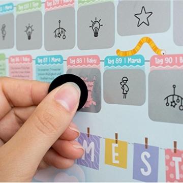 all Kids United Schwangerschaftskalender zum Rubbeln - Schwangerschafts-Tagebuch & Rubbel-Kalender - Schwangerschaftstagebuch führt Tag für Tag durch die Schwangerschaft - 5