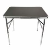 Aluminium Klapptisch Campingtisch 75x55cm Gartentisch Beistelltisch Falttisch Picknicktisch Alutisch faltbar und höhenverstellbar - 1