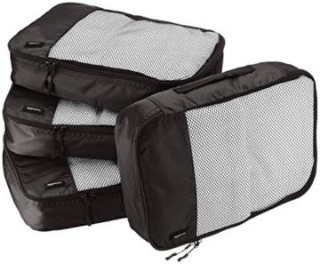 AmazonBasics Mittelgroße Kleidertaschen, 4 Stück, Schwarz - 1