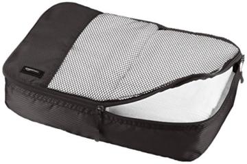 AmazonBasics Mittelgroße Kleidertaschen, 4 Stück, Schwarz - 2