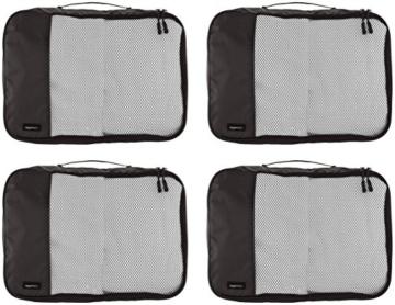 AmazonBasics Mittelgroße Kleidertaschen, 4 Stück, Schwarz - 3