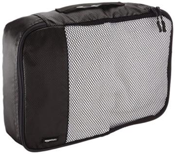 AmazonBasics Mittelgroße Kleidertaschen, 4 Stück, Schwarz - 4