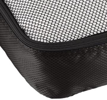 AmazonBasics Mittelgroße Kleidertaschen, 4 Stück, Schwarz - 5
