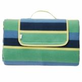 AmazonBasics - Picknickdecke, campingdecke mit wasserdichter Unterseite, 150 x 195 cm - 1