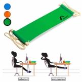 Amazy XXL Fuß Hängematte für breite Tische bis 2,00 m – Höhenverstellbare und extra breite Fußstütze zur Entspannung und Entlastung am Schreibtisch und im Büro (Grün) - 1