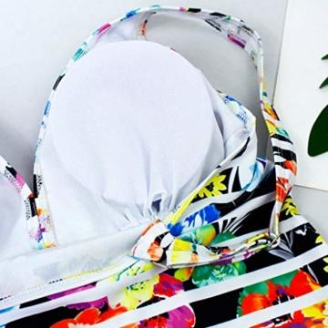AMUSTER Tankinis Damen Bikini Set Streifen Zweiteilig Bademode Damen Große Größen Strand Bikini Oberteile + Höschen - 5