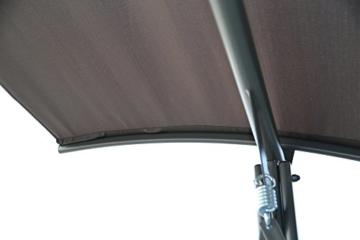Angel Living 5869200 Hollywoodschaukel Gartenschaukel 3 Sitzer mit Sonnenschutz aus Stahl,Polyester - 3