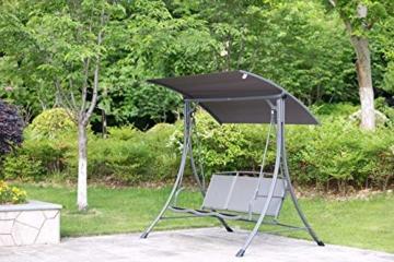 Angel Living 5869200 Hollywoodschaukel Gartenschaukel 3 Sitzer mit Sonnenschutz aus Stahl,Polyester - 4
