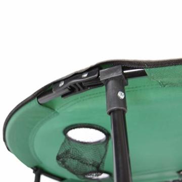 Anglertisch Klapptisch Campingtisch Tisch Koffertisch Strandtisch (Tisch rund), Farbe:Gruen - 3