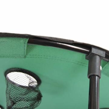 Anglertisch Klapptisch Campingtisch Tisch Koffertisch Strandtisch (Tisch rund), Farbe:Gruen - 4