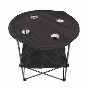 Anglertisch Klapptisch Campingtisch Tisch Koffertisch Strandtisch (Tisch rund), Farbe:Gruen - 5