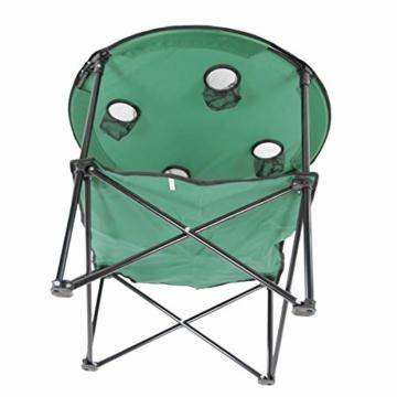 Anglertisch Klapptisch Campingtisch Tisch Koffertisch Strandtisch (Tisch rund), Farbe:Gruen - 9