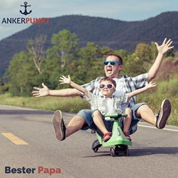 ANKERPUNKT Schlüsselanhänger Leder mit Gravur Bester Papa - Vatertagsgeschenk - Geschenke für Papa - Geschenkidee zum Geburtstag Vatertag - Made in Germany (Dunkelbraun) Used Look - 6