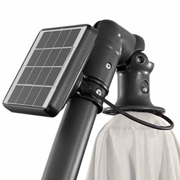 Arebos Sonnenschirm mit LED Gartenschirm, Terrassenschirm, Balkonschirm, Ampelschirm mit Kurbel aufklappbar in Rot, Grün, Creme oder Anthrazit (wählbar) (Creme) - 5