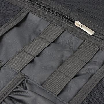 Arvok Elektronik Organizer Zubehör Klein Tasche Reise Tragbare Reisetasche Aufbewahrungstasche Festplattentasche Reisekoffer Kosmetiktasche Schutzhülle für Festplatten Kabel USB-Sticks, Schwarz - 7