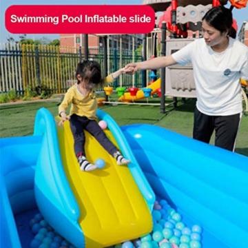 Aufblasbare Wasserrutsche Breitere Schritte Fun Play Center, PVC Joyful Swimming Pool Zubehör für Kinder Wasserspiel Freizeitanlage - 3