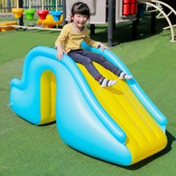 Aufblasbare Wasserrutsche Breitere Schritte Fun Play Center, PVC Joyful Swimming Pool Zubehör für Kinder Wasserspiel Freizeitanlage - 4