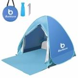BACKTURE Pop Up Campingzelt,Strandzelt UPF 50+ UV Wasserdicht Schutz 2-3 Personen Strandmuschel Familien Sonnenschutz Strandzelt Selbstaufbauend Automatisch Schutzzelt Sonnenschirm Haus am Strand - 1