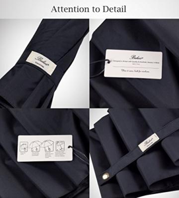 Balios® Regenschirm Mit Echtem Holzgriff -Optional | Auf Zu Automatik | Sturmfest & Windsicher | Taschenschirm Für Herren & Damen Schwarz (Designed in Britain) (Black with Luxury REAL Wood Handle) - 4