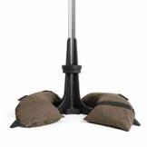 Baser Sonnenschirmständer mit befüllbarer Sandsäcken 30 kg/40 kg/50 kg. Alternativ zum Granit Sonnenschirmständer mit Rollen. Befüllbar Sonnenschirm Schirmständer mit Tragegriff (50 KG, Dunkelbraun) - 1