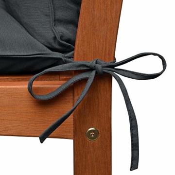 Beautissu Flair BR Bankauflage 150x50x50cm Auflagen Gartenbank Kissen Bank Auflage Sitzpolster Gartenmöbel & Rückenkissen mit Oeko-TEX - Sitzauflage Graphit-Grau - 7