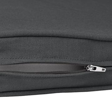 Beautissu Hollywoodschaukel Auflage Loft HS 180x50cm Auflagen für 3-Sitzer Hollywoodschaukel mit Rücken-Kissen Graphitgrau erhältlich - 5