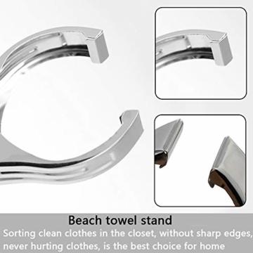 BETOY Edelstahl Strandtuch Clips, 12 Stück Wäscheklammern aus Edelstahl Strandtuch-Klammern Groß Windbeständig für Tägliche Wäsche, Strandtuch, Badetuch - 5