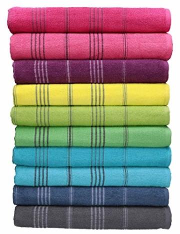 Betz Badetuch XXL Strandtuch Lines 100% Baumwolle Größe 90 x 180 cm Farbe türkis - 3