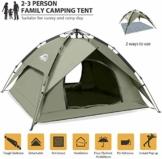 BFULL Instant Pop Up Camping Zelte für 2-3 Personen Familie, Kuppelzelte Wasserdicht Sonnenschutz Backpacking Wurfzelte Schnell Set-up für Camping Wandern Outdoor Aktivitäten - 1