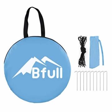 Bfull Strandmuschel mit Einer Abschließbaren Tür und UV 50 Sonnenschutz für 2-4 Personen Pop Up Strandzelt Extra Leicht Wurfzelt - 5